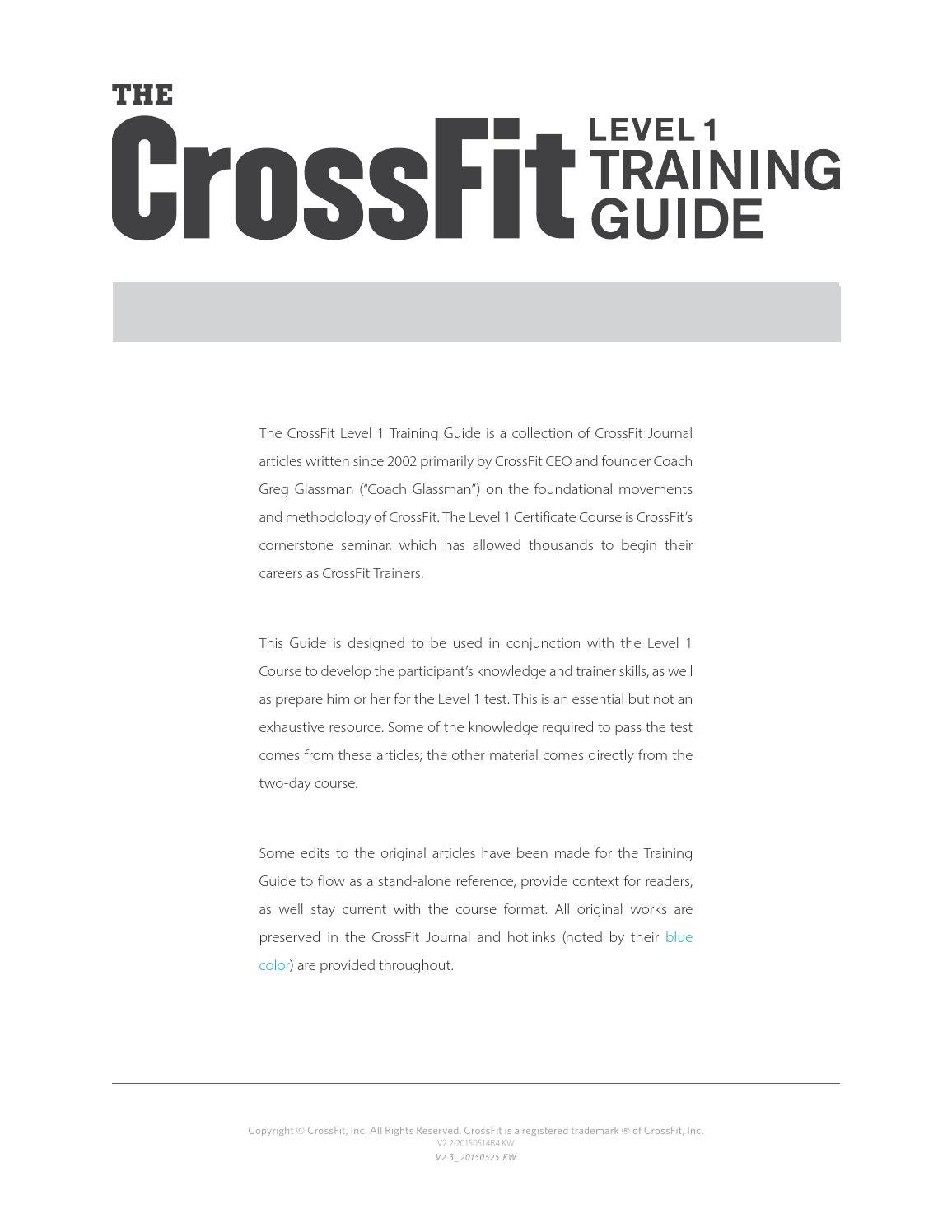 Crossfit Training Guide Level 1 By Jmannes Issuu