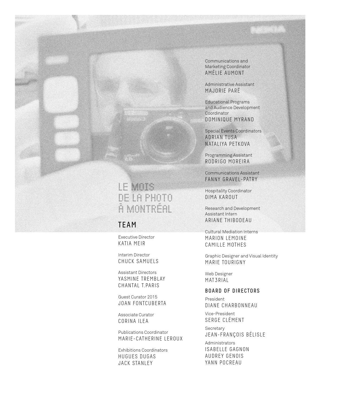 Le Mois de la Photo /à Montr/éal The Post-Photographic Condition