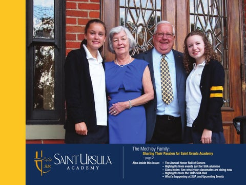 Saint Ursula Academy Magazine Fall 2015 by Jill Cahill - issuu