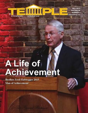 The Temple Journal of Phi Kappa Theta - Fall 2015 by Phi Kappa Theta
