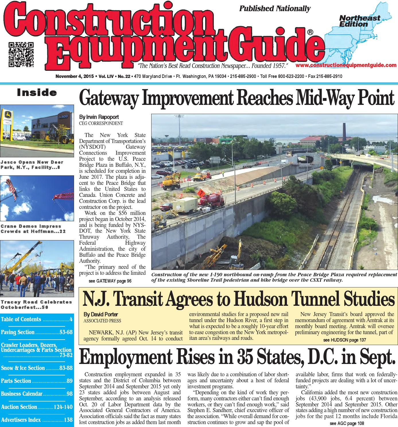 08f6097cbc2 Northeast 22 2015 by Construction Equipment Guide - issuu