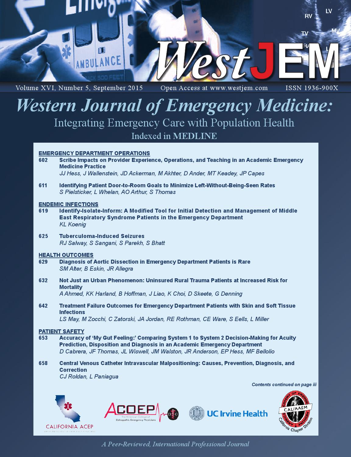 Volume 16 Issue 5 By Western Journal Of Emergency Medicine Issuu 1969 Beaumont Wiring Diagram