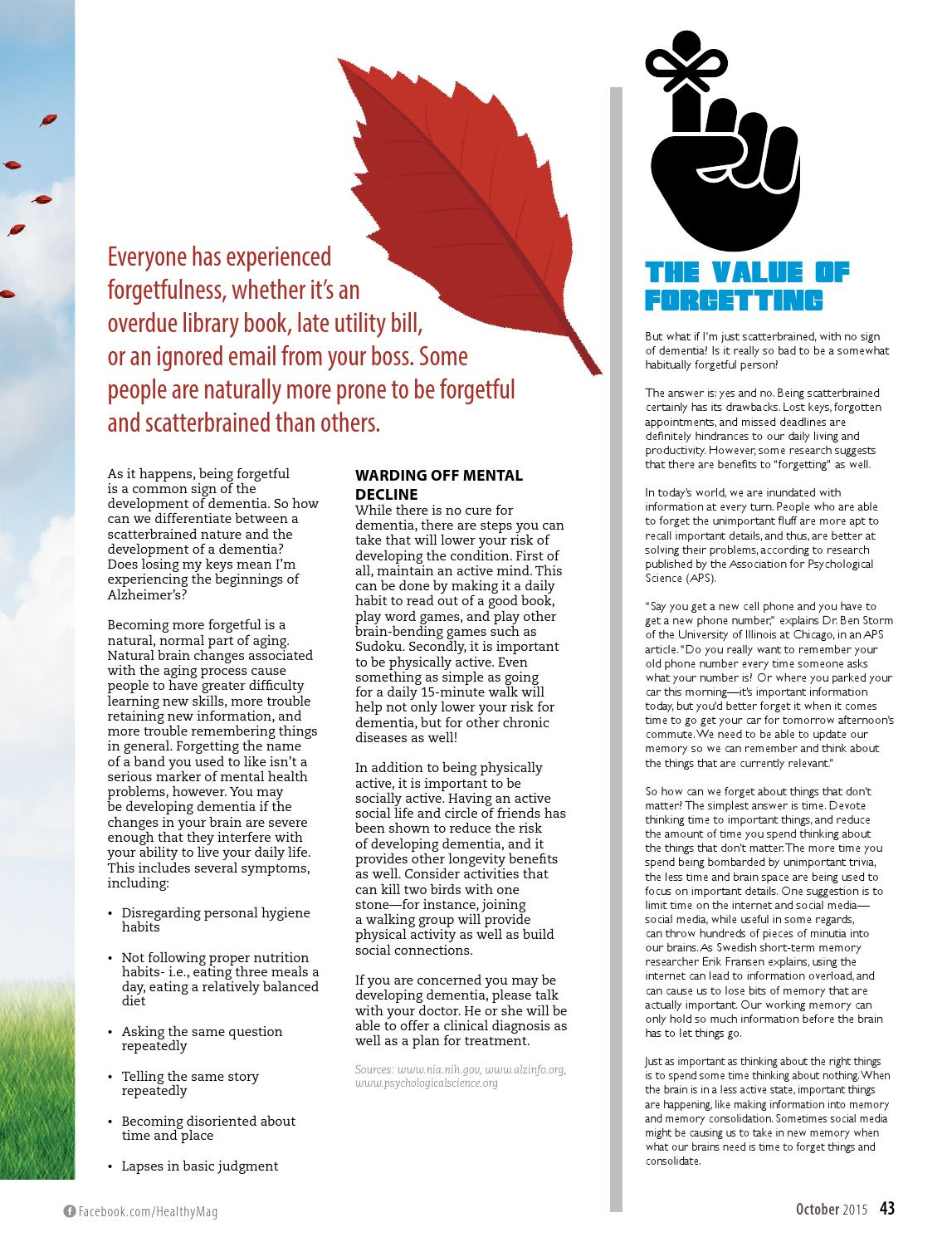 Healthy Magazine | October '15