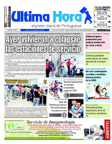 1627af93c548 Edicion05 11 2015 by Ultima Hora - El primer diario de Portuguesa ...