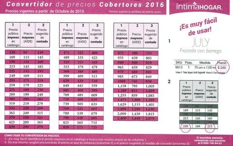 Convertidor del catalogo de cobertores colchas intima 2015 for Cobertores para piscinas precios