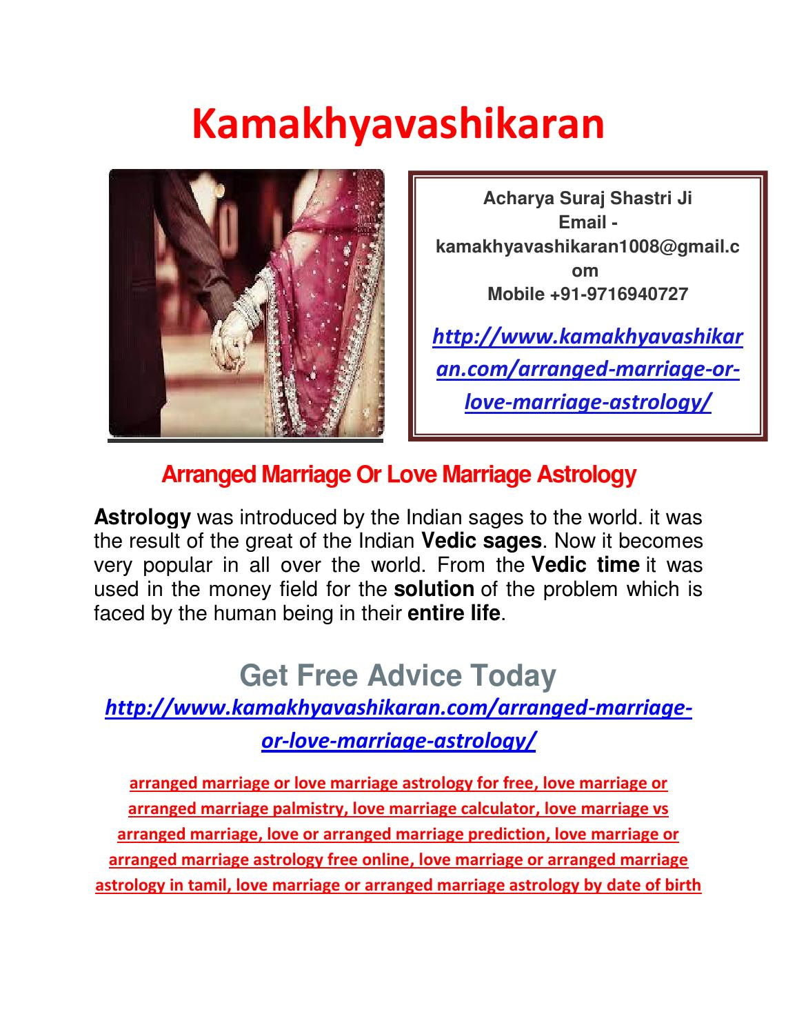 Arranged marriage or love marriage astrology by shweeta - issuu