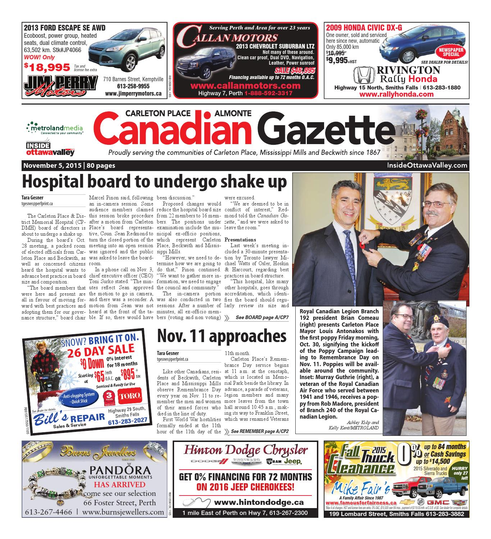 2169c60b1b0ff0 Almontecarletonplace110515 by Metroland East - Almonte Carleton Place  Canadian Gazette - issuu
