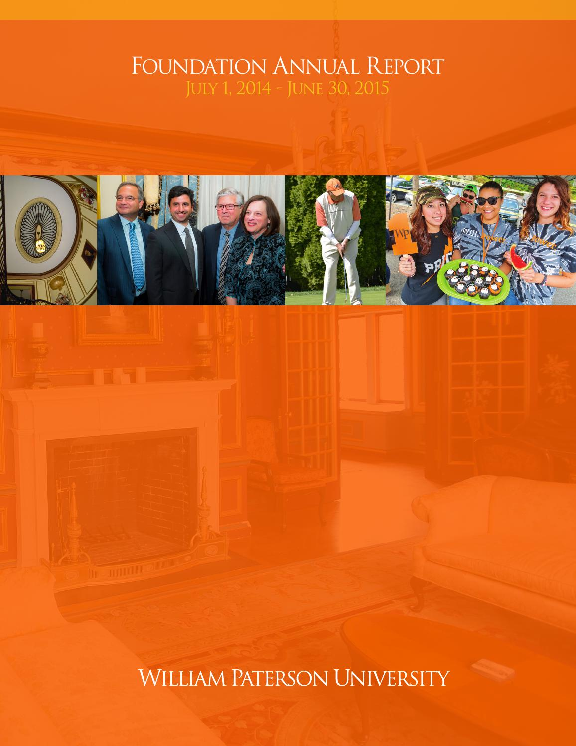 William Paterson Foundation Annual Report 2014-2015 by