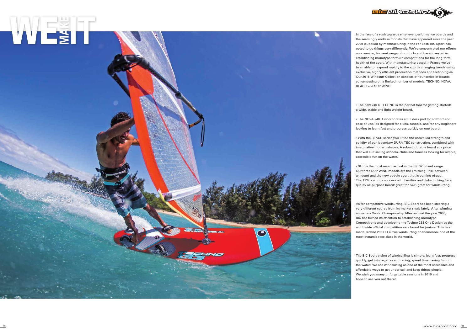 BIC Sport 2016 Windsurf by Michel Watersport - issuu