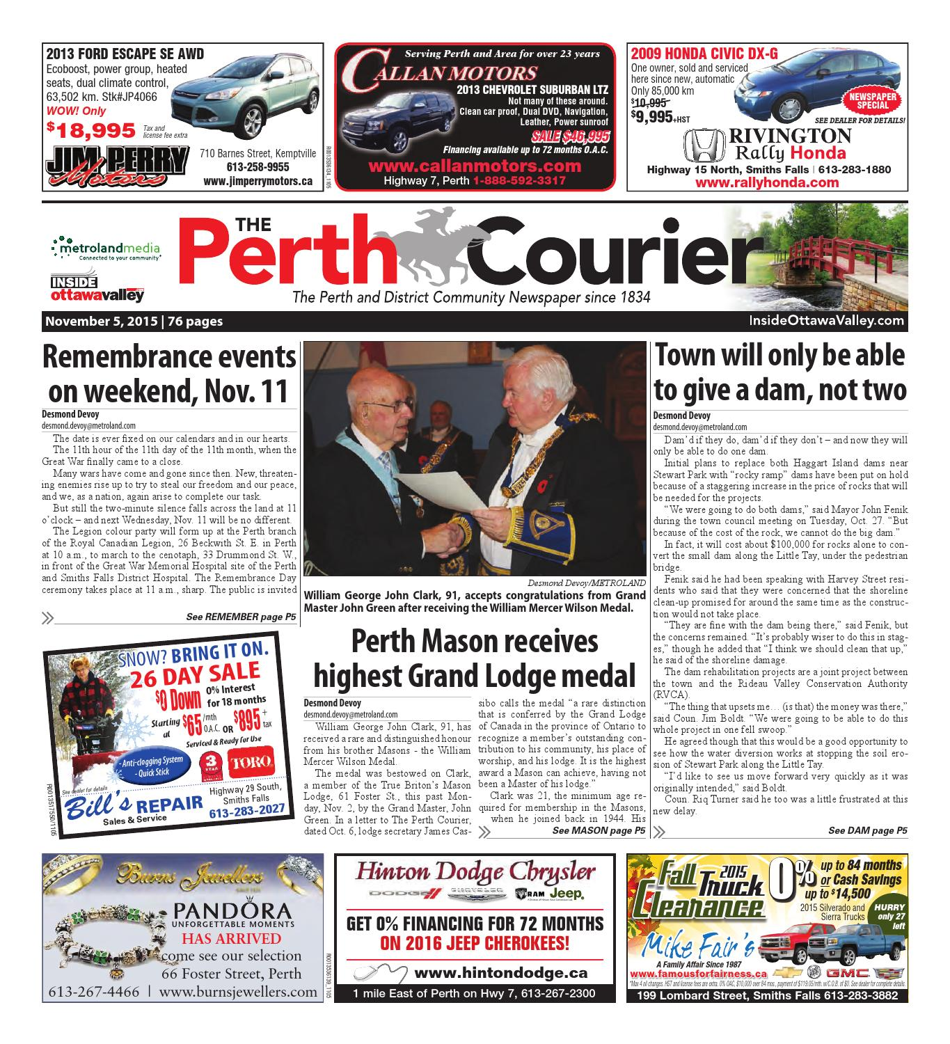 Perth110515 by metroland east the perth courier issuu fandeluxe Gallery