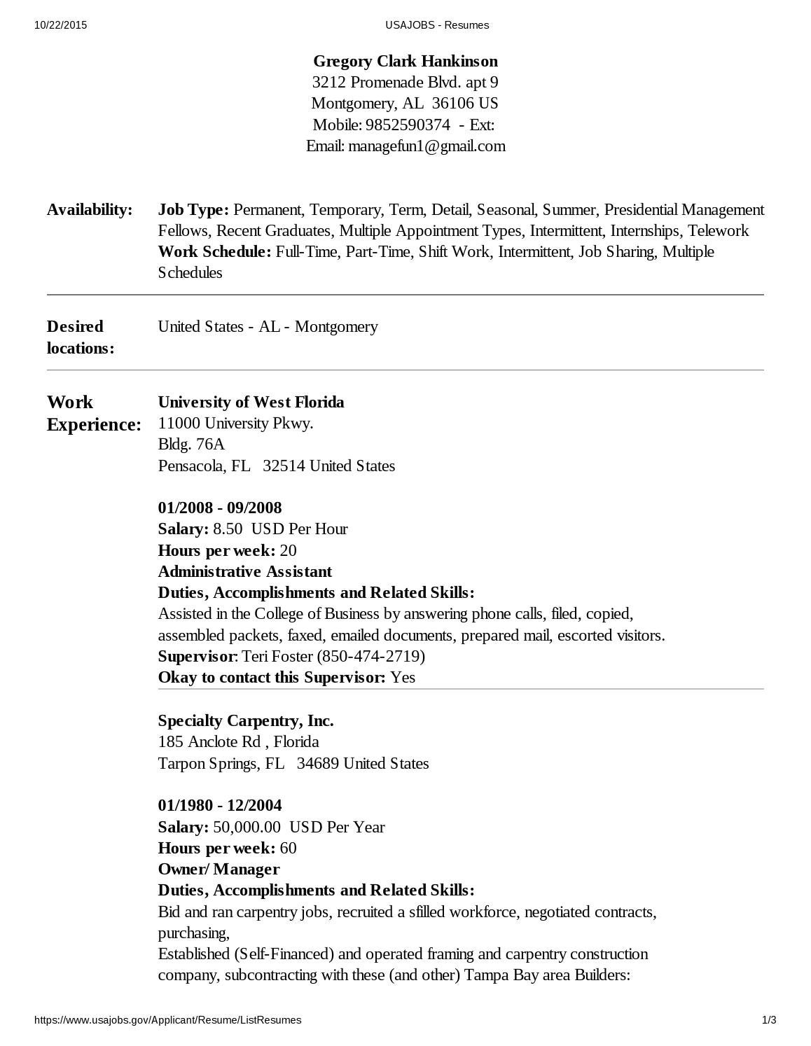 usajobs resume by greg hankinson