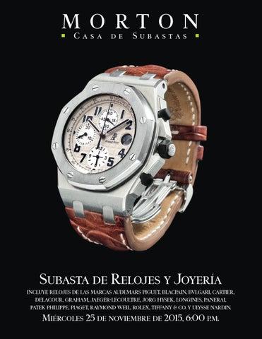 d9fcb512e34 Subasta de Relojes y JoyerĂa incluye relojes de las marcas audemars piguet
