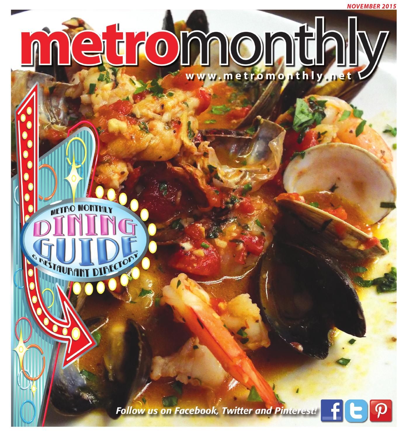 Metro Monthly NOV 2015 by Metro Monthly issuu