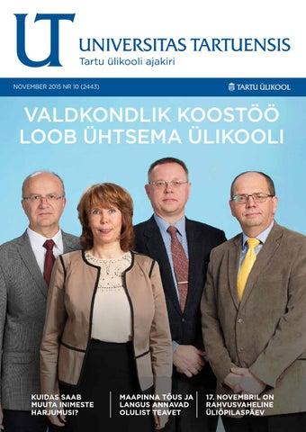 d31f35d63f2 UT november 2015, nr 10 by Universitas Tartuensis - issuu