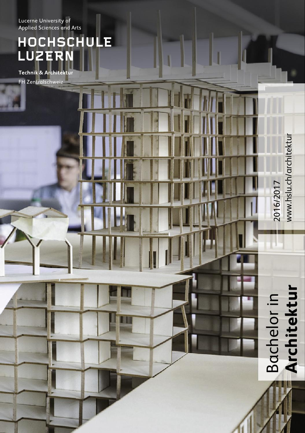 Studienf hrer bachelor architektur 2016 2017 by hochschule - Skelettbau architektur ...