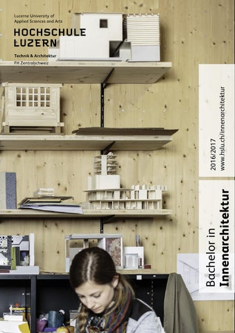 Studienf hrer bachelor innenarchitektur 2016 2017 by for Innenarchitektur hochschule