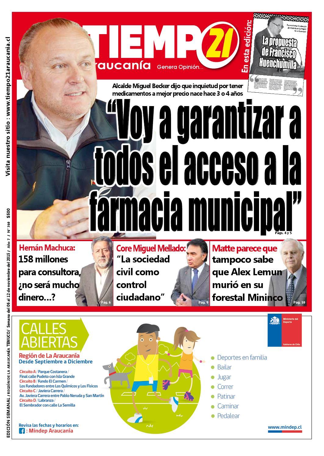 Edici N 360 Alcalde Miguel Becker Voy A Garantizar A Todos El  # Muebles Mehuin Rancagua