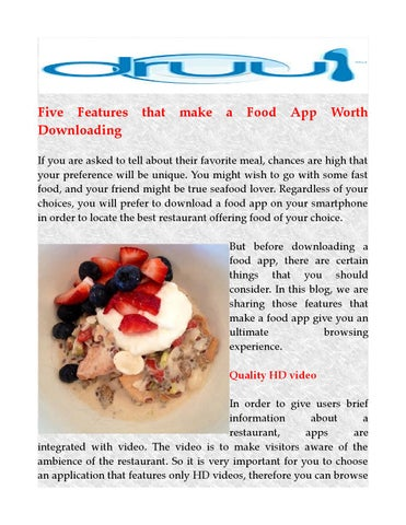 Download best food apps by druulfoodapps issuu five features downloading that make a food app forumfinder Image collections