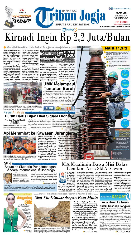 Tribunjogja 03 11 2015 By Tribun Jogja Issuu Produk Ukm Bumn Tenun Pagatan Kemeja Pria Biru Kapal