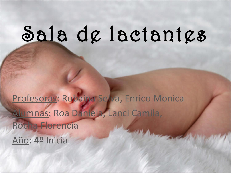 Sala de lactantes caracteristicas by m sica en la primera for Diseno curricular de jardin maternal