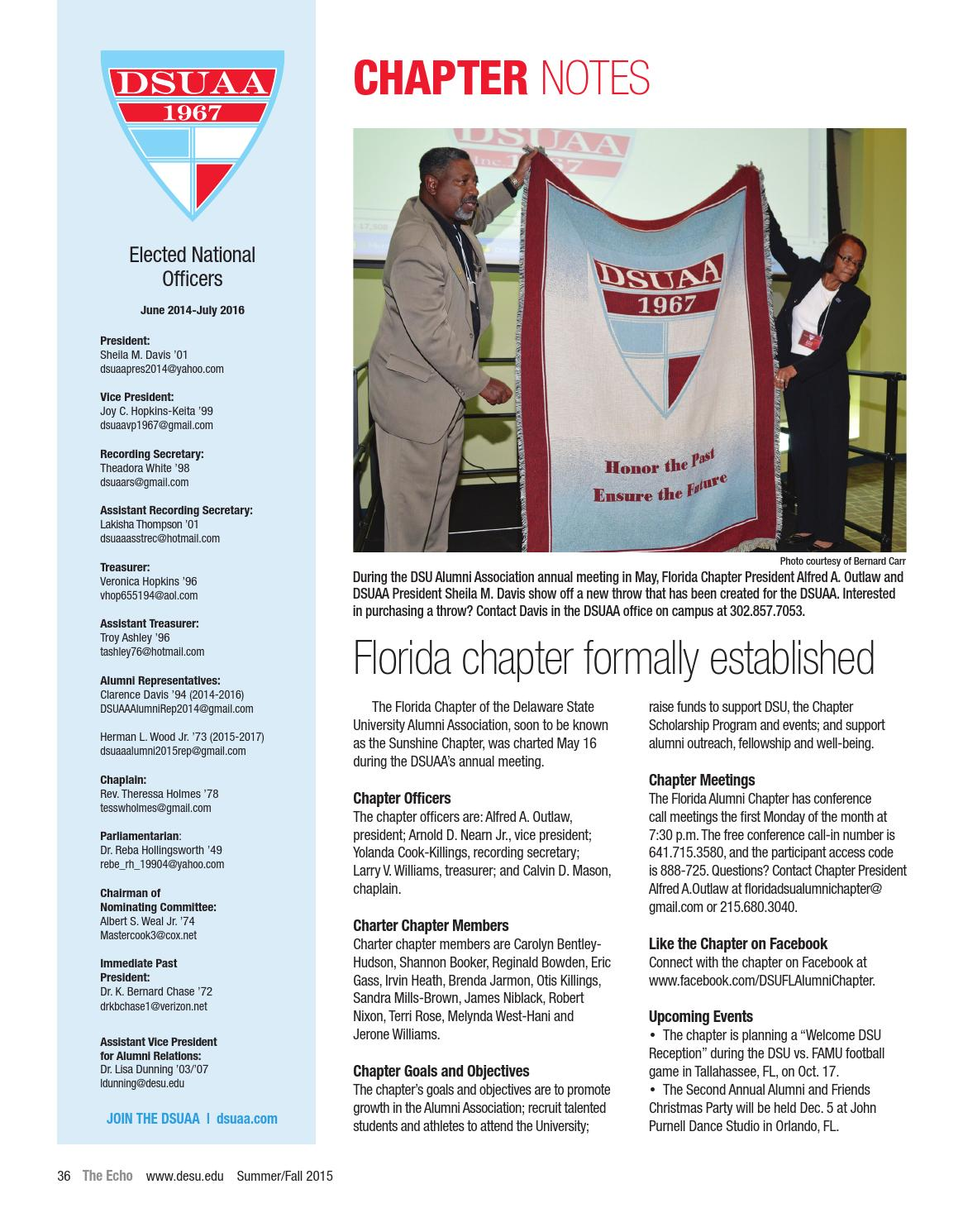 Delaware State University The Echo Summer/Fall 2015 by