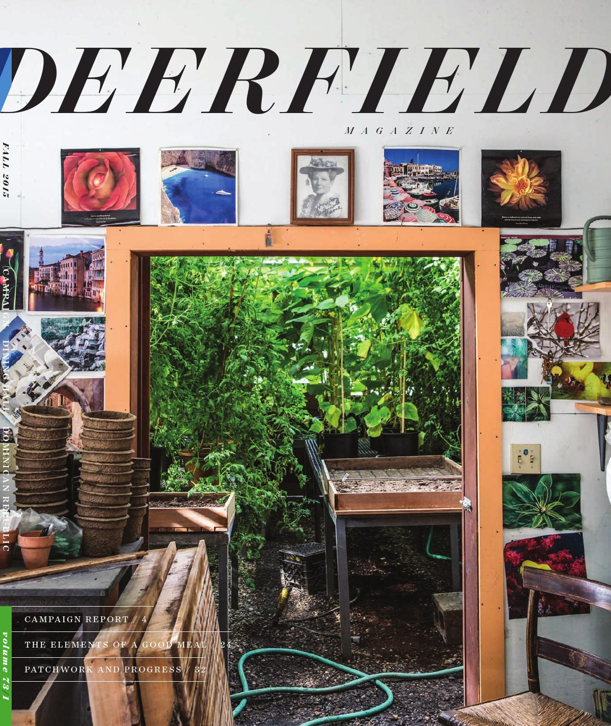 Fall 2015 Deerfield Magazine By Deerfield Academy Issuu
