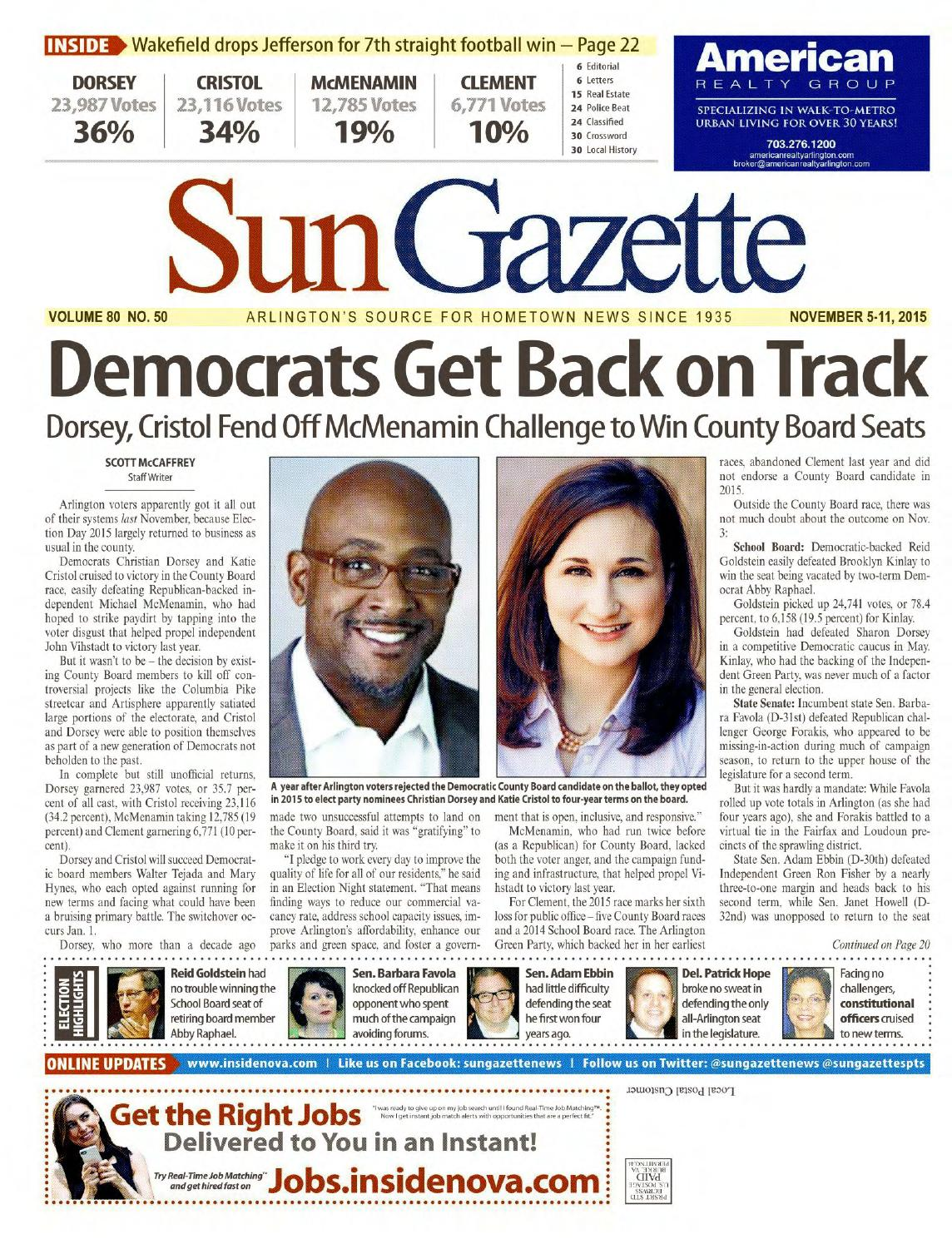Sun Gazette Arlington November 5, ...