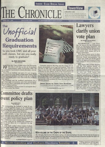 May 1 2000 By Duke Chronicle Print Archives