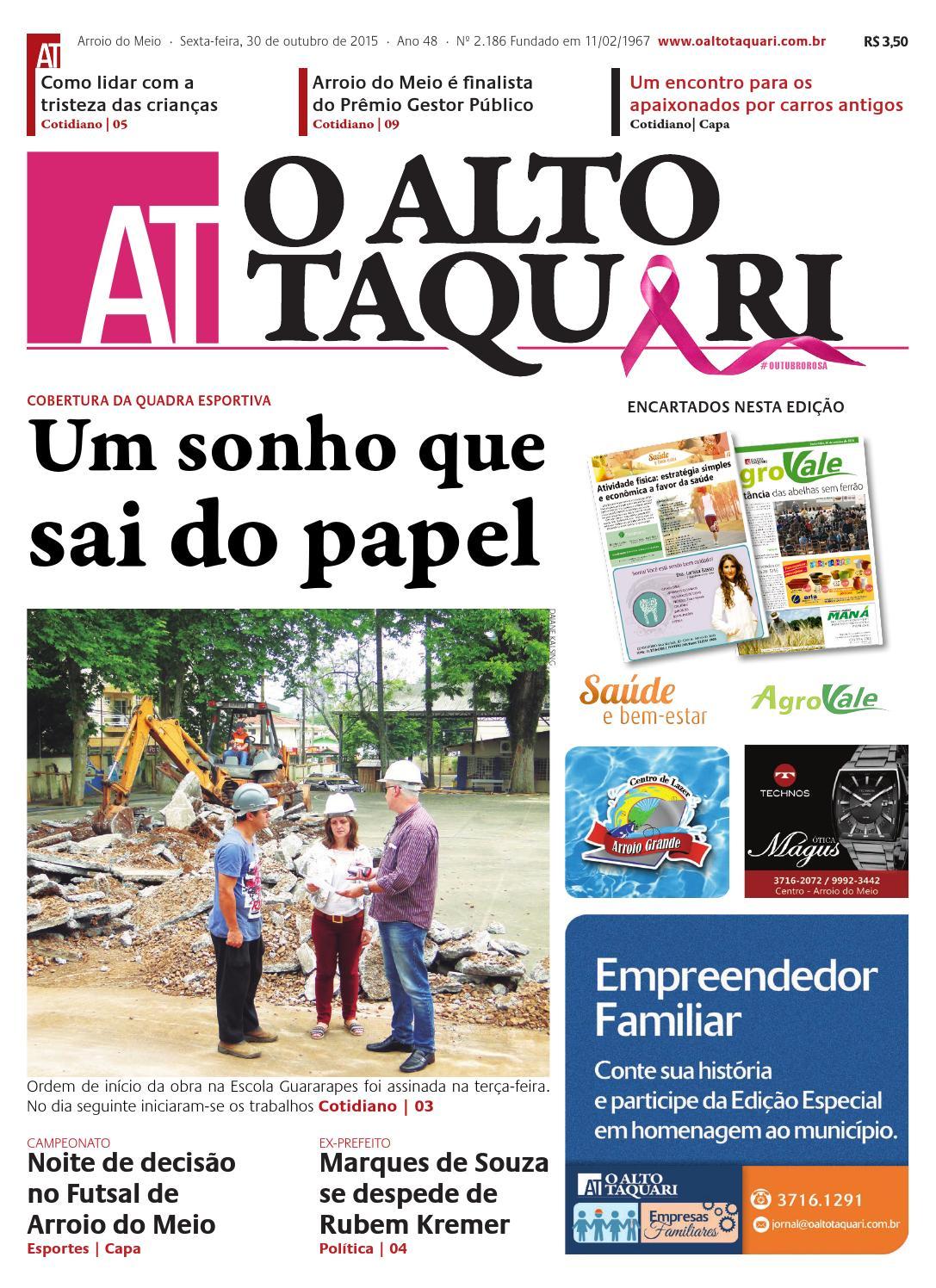Jornal O Alto Taquari - 30 de outubro de 2015 by Jornal O Alto Taquari -  issuu 42899cff8d