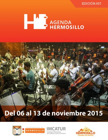 "Cover of ""Agenda Hermosillo del 06 al 13 de noviembre"""