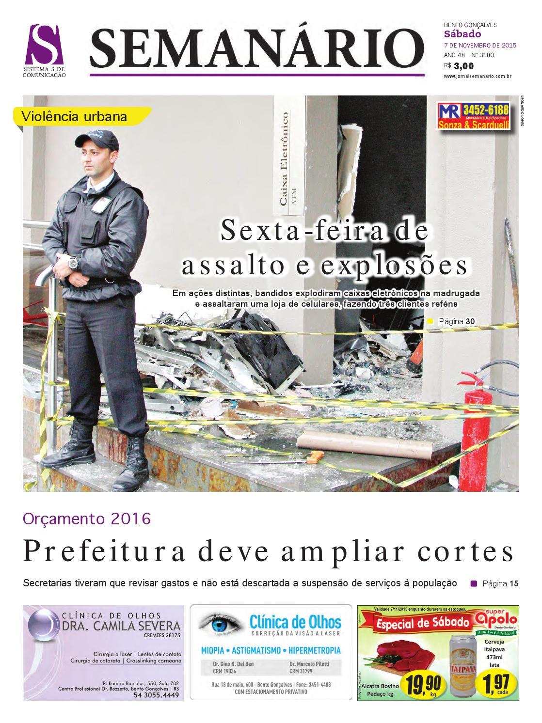 07 11 2015 - Jornal Semanário - Edição 3180 by Jornal Semanário - Bento  Gonçalves - RS - issuu 6ad362acb0
