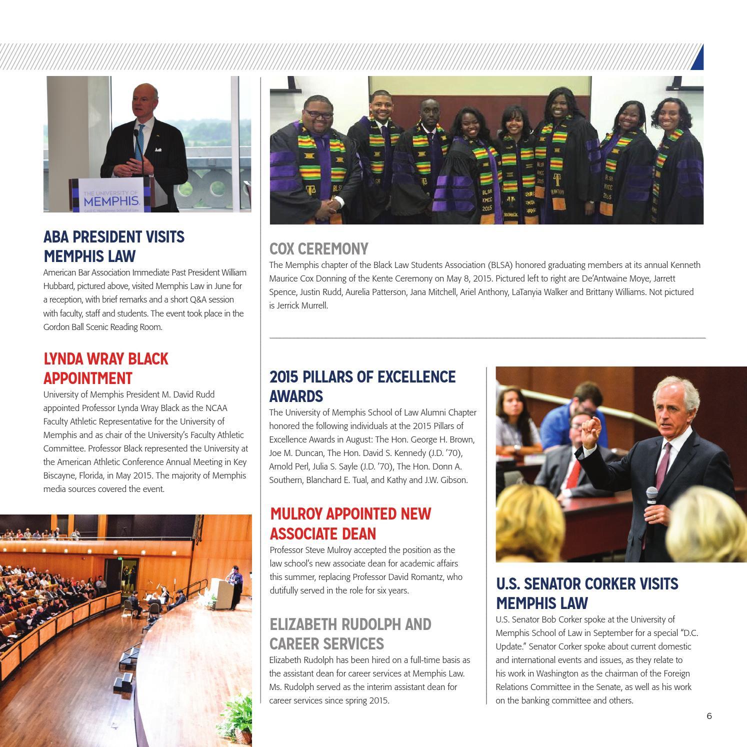 University of Memphis Cecil C  Humphreys School of Law Magazine