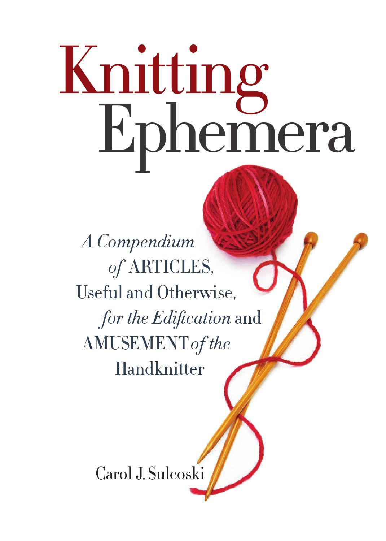 Knitting Ephemera by Sixth&Spring Books - issuu