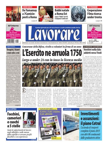 Lavorare 833 19 Novembre 2015 By Media Futuro Societa