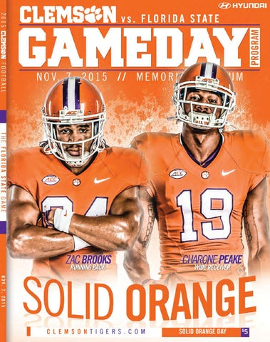 6357b40e5 2015 Clemson vs. Florida State Football Gameday Program by Clemson ...