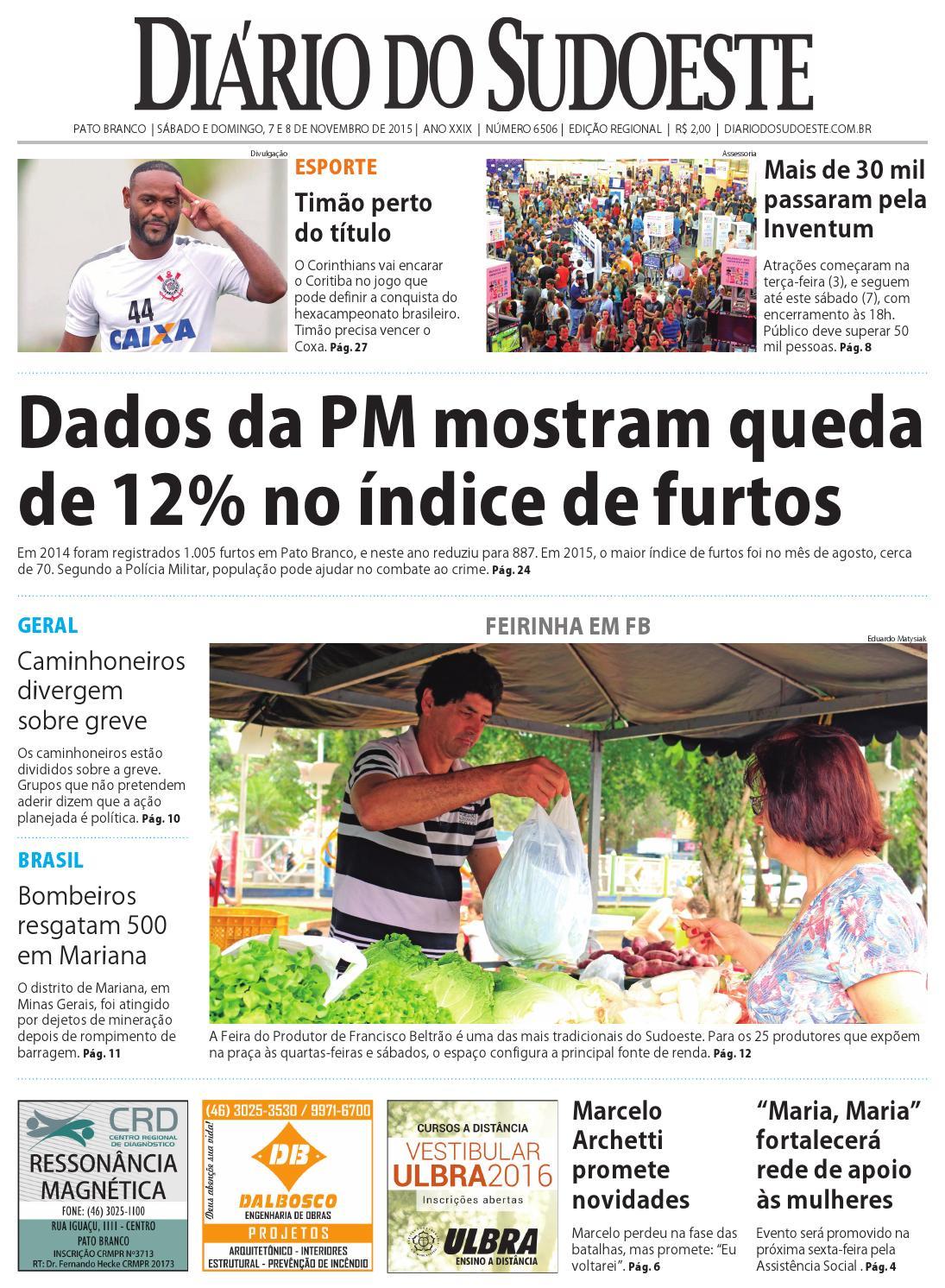 bb4a1012f485c Diário do sudoeste 7 e 8 de novembro de 2015 ed 6506 by Diário do Sudoeste  - issuu