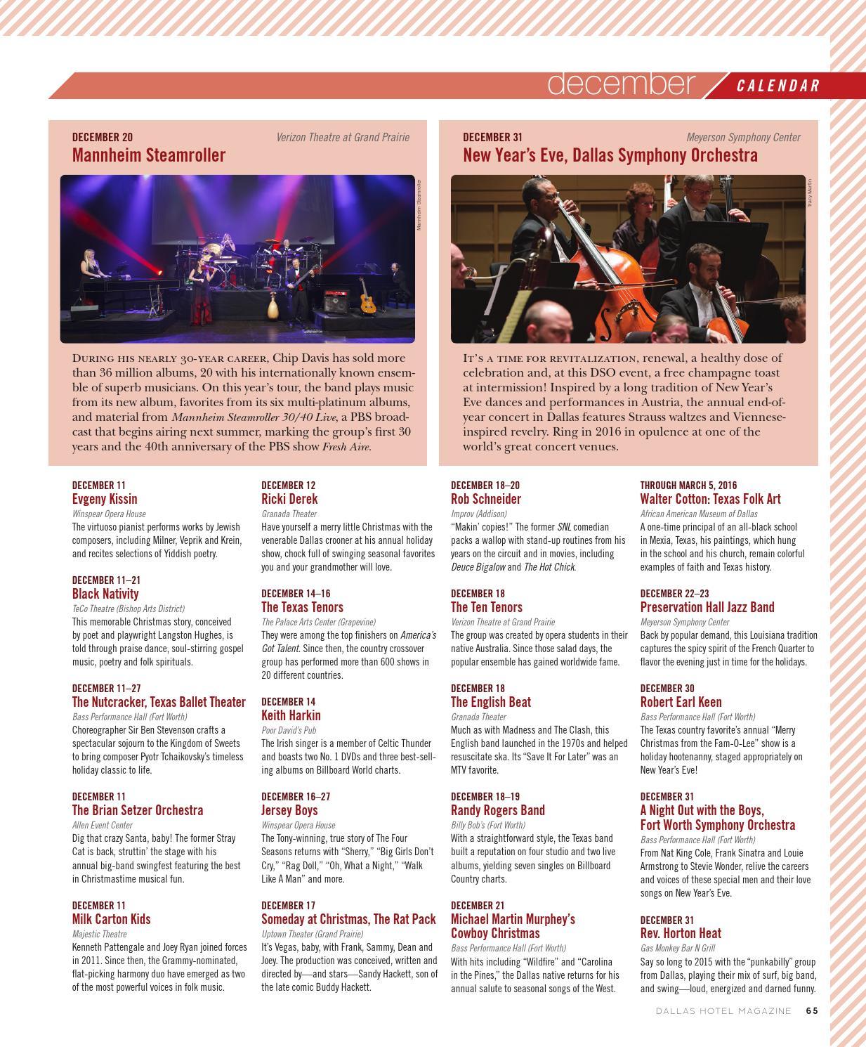 Dallas Hotel Magazine - Fall + Holiday 2015 by Dallas Hotel Magazine ...
