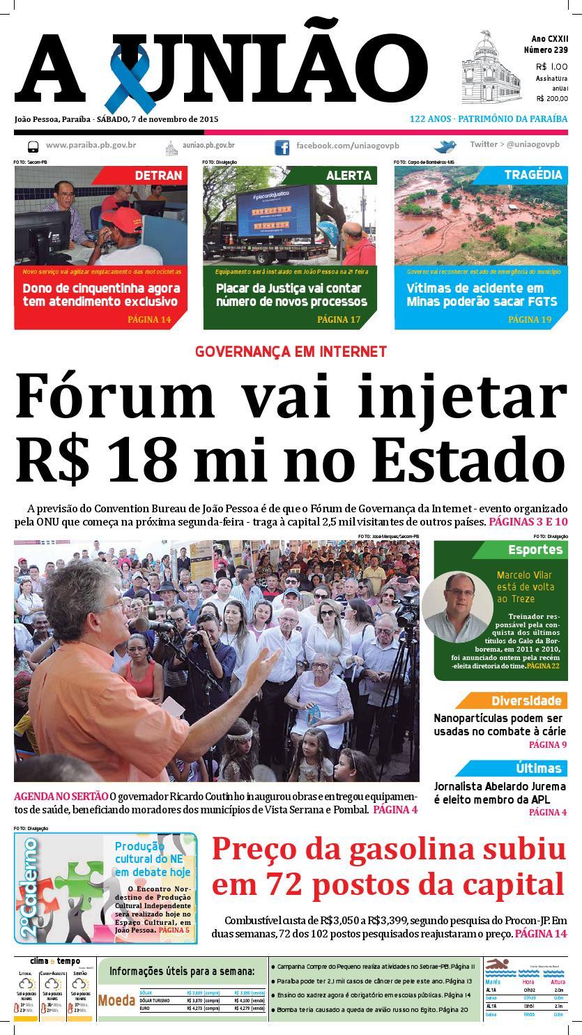 df17c38a746 Jornal A União - 07 11 2015 by Jornal A União - issuu