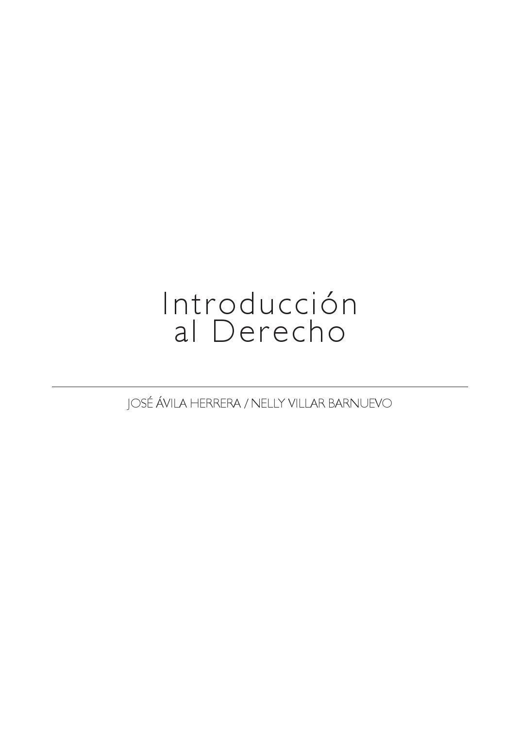Id99 Xv2 Introducción Al Derecho José ávila Nelly Villar By