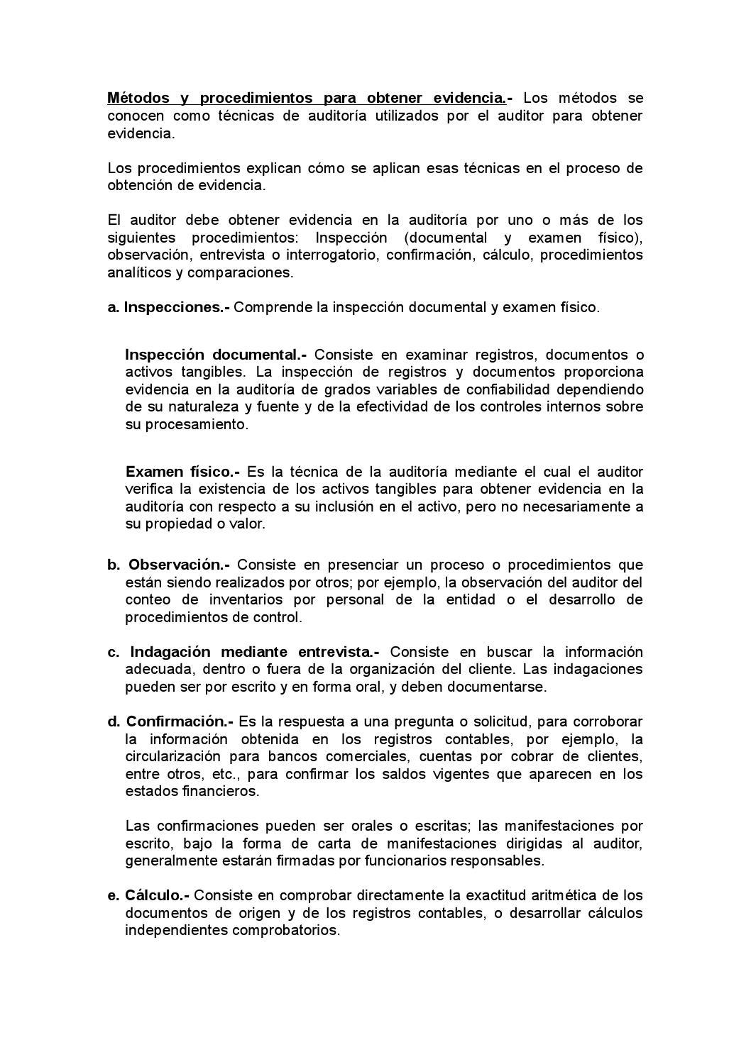 Métodos y procedimientos y papaeles de trabajo by Cindy Vanessa - issuu