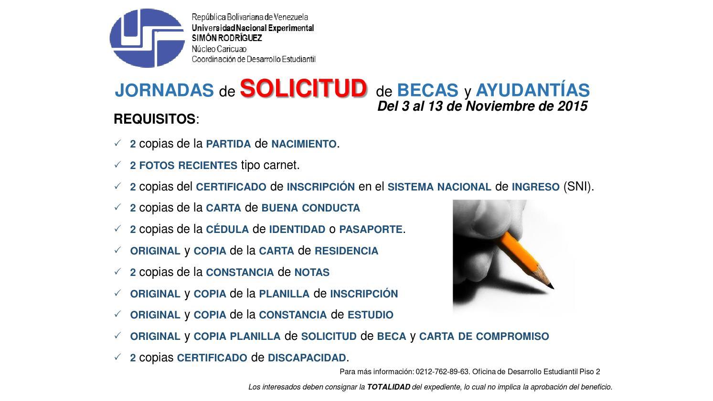 Requisitos para Solicitar la Beca UNESR by CODES_Caricuao - issuu