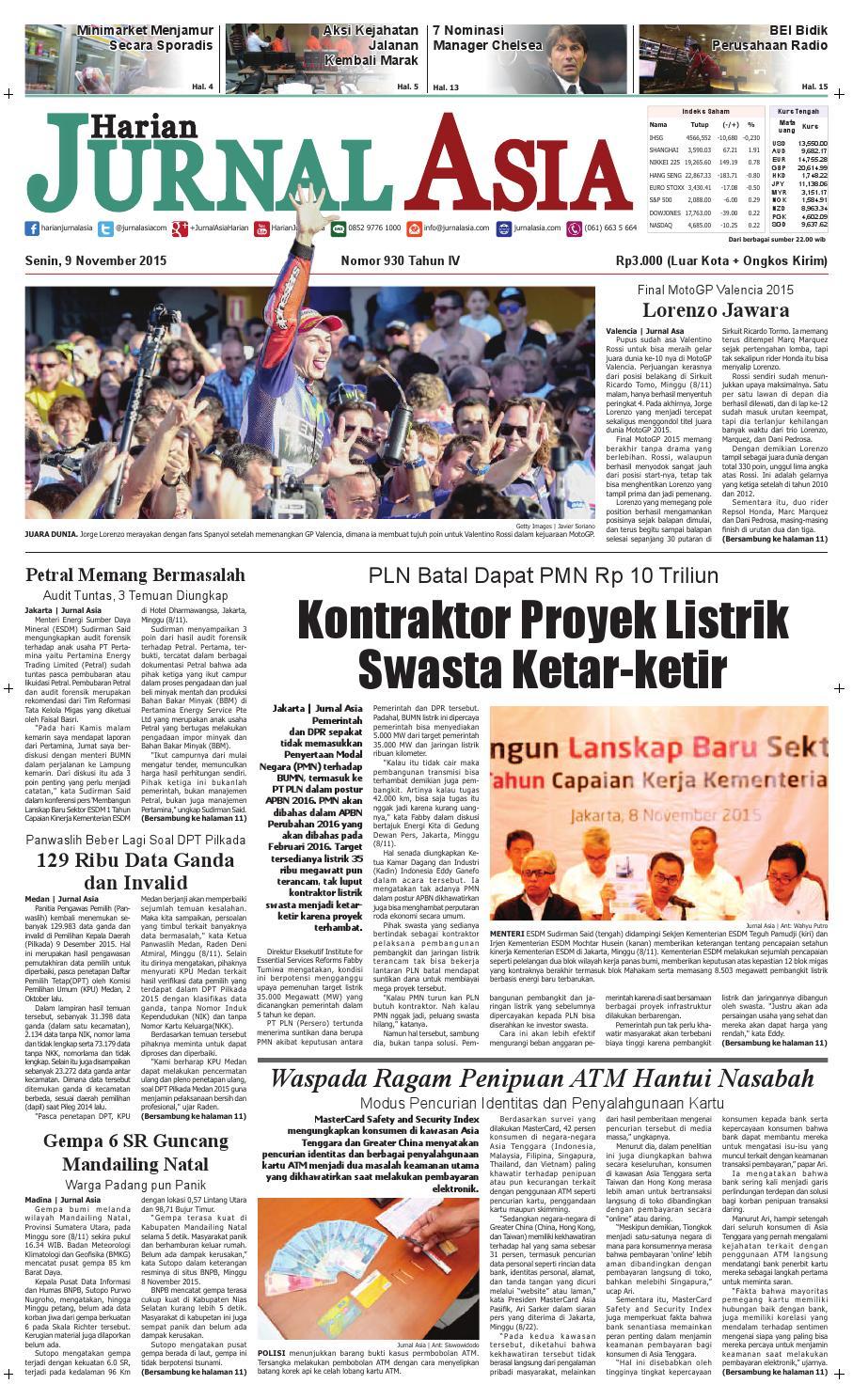 Harian Jurnal Asia Edisi Senin 09 November 2015 By Parcel Makanan Ampamp Keramik Pja 1608 Medan Issuu