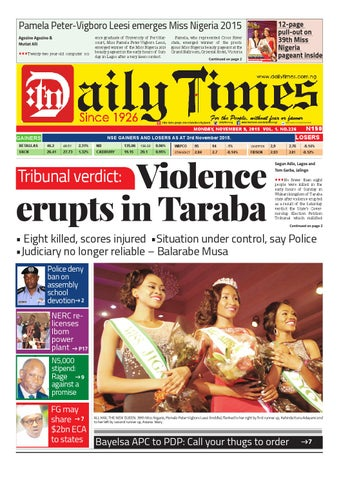 Dtn 9 11 15 by Daily Times of Nigeria - issuu