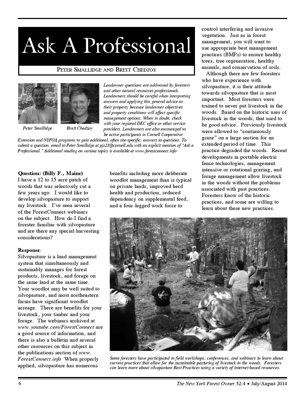 The New York Forest Owner - Volume 52 Number 4 by Jim Minor - issuu