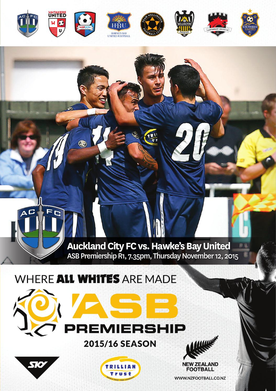 Match Programme Auckland City Fc V Hawkes Bay United By