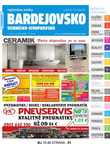 e93e6ea697b57 Bj1545 by REGIONPRESS - Bardejovsko - issuu