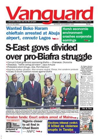 S-East govs divided over pro-Biafra struggle by Vanguard