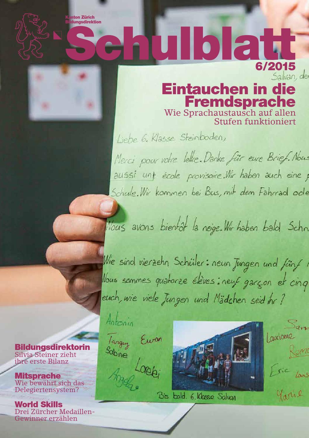 Schulblatt 6 2015 by Schulblatt Kanton Zürich - issuu