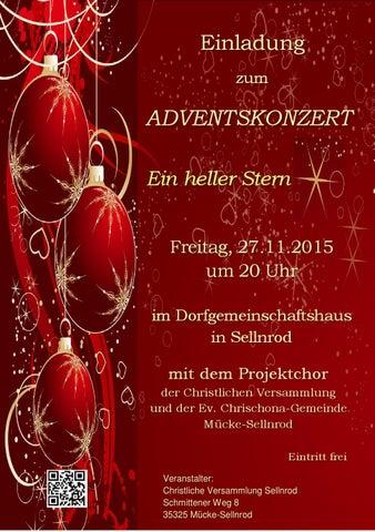 christliche versammlung sellnrod - issuu, Einladung
