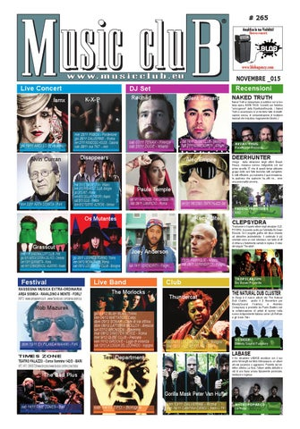 6f76cf56 Music club novembre 2015 by Luciano Massetti (MusicClub) - issuu
